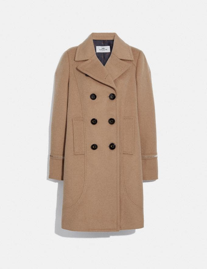 Coach Tailored Wool Coat Light Camel