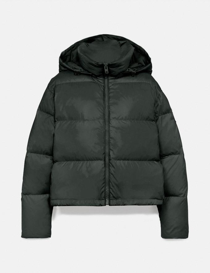 Coach Short Puffer Evergreen