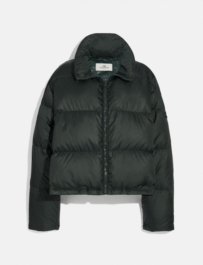 Coach Short Puffer Evergreen  Alternate View 1