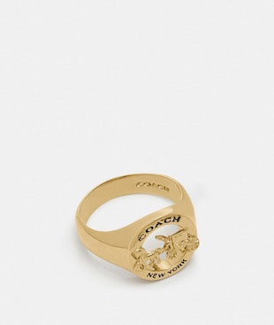 HORSE AND CARRIAGE SIGNET RING