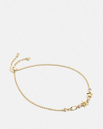 floral star slider bracelet