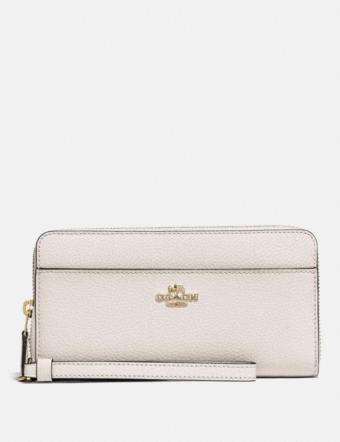 Coach Accordion Zip Wallet Chalk/Gold Accessories Wallets