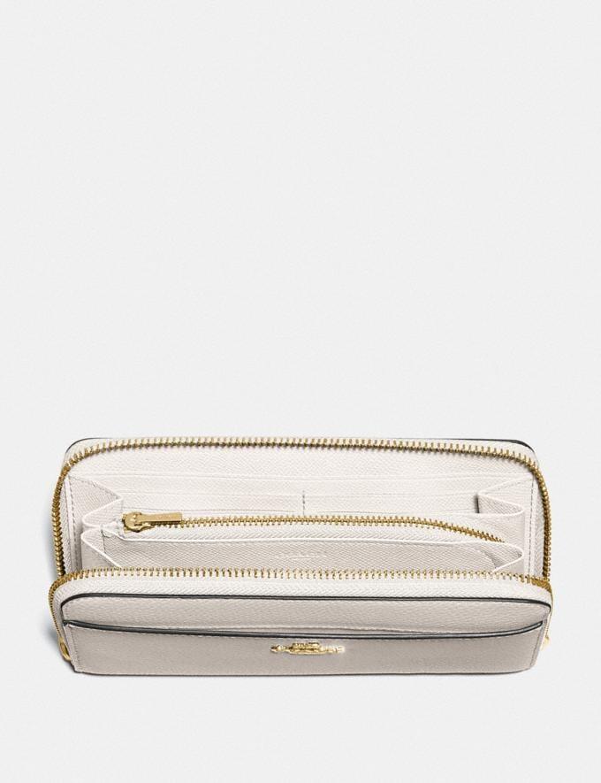 Coach Accordion Zip Wallet Chalk/Gold Explore Women Explore Women Wallets Alternate View 1