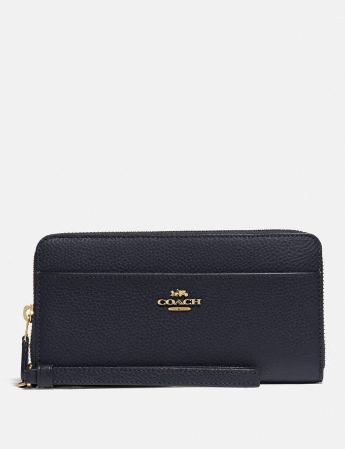 Coach Accordion Zip Wallet Midnight/Gold Explore Women Explore Women Wallets