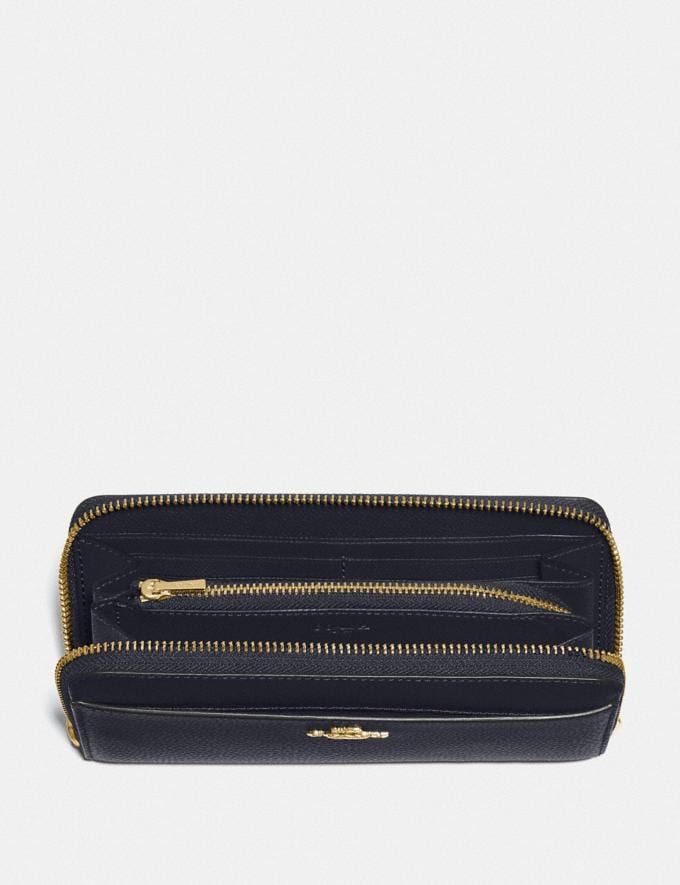 Coach Accordion Zip Wallet Midnight/Gold Explore Women Explore Women Wallets Alternate View 1