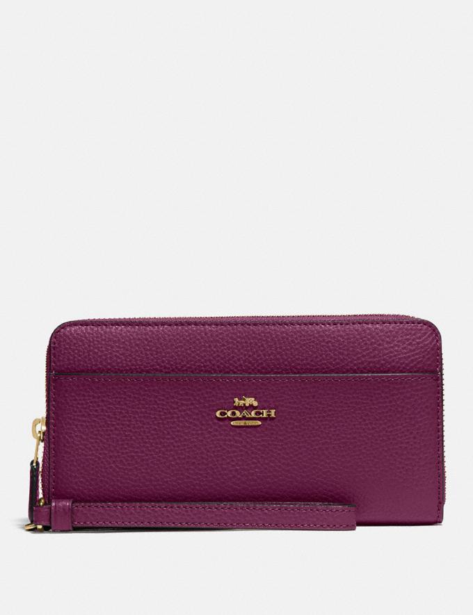 Coach Accordion Zip Wallet Im/Dark Berry Explore Women Explore Women Wallets