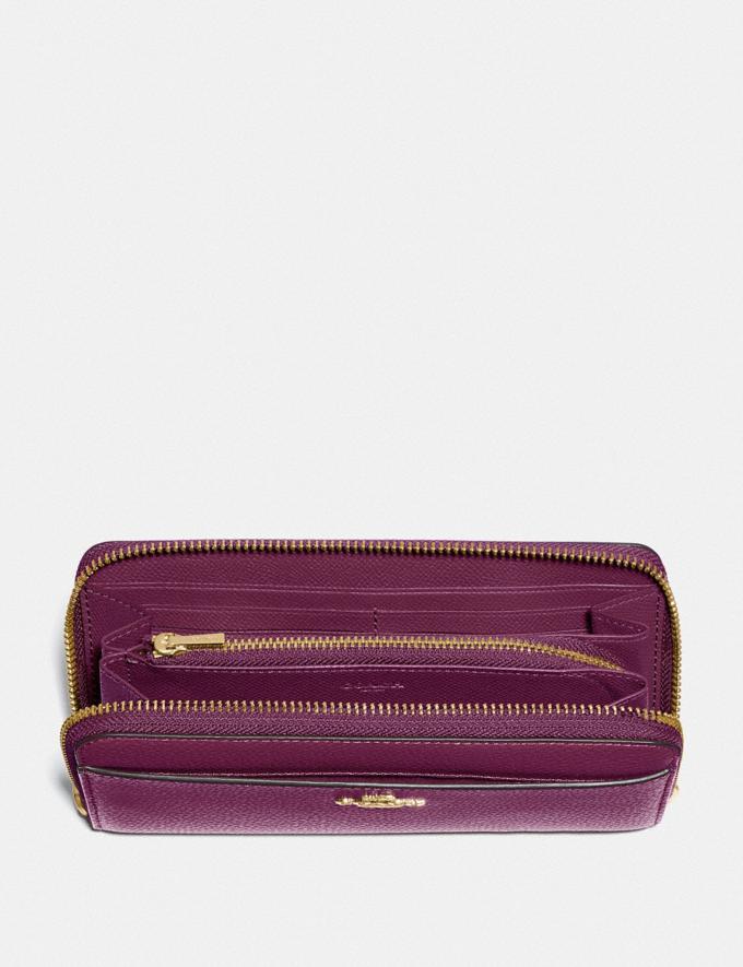 Coach Accordion Zip Wallet Im/Dark Berry Explore Women Explore Women Wallets Alternate View 1