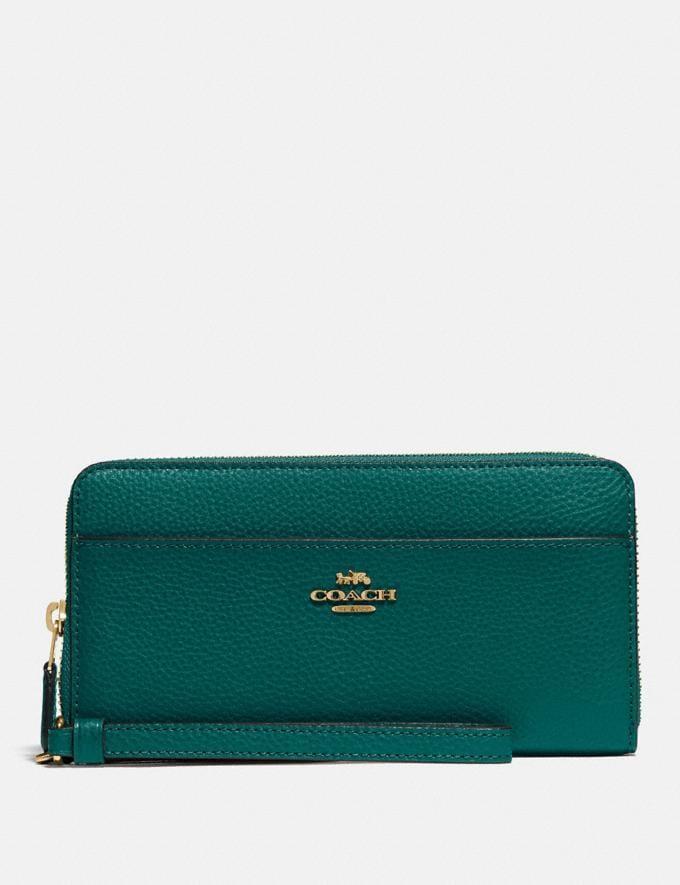 Coach Accordion Zip Wallet Im/Viridian Explore Women Explore Women Wallets