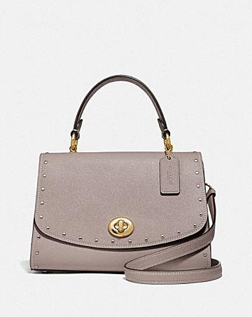 TILLY TOP HANDLE SATCHEL WITH RIVETS