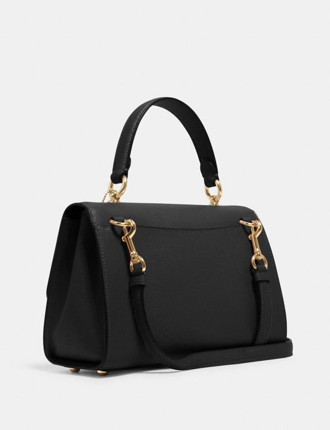 Coach Tilly Top Handle Satchel Black/Gold DEFAULT_CATEGORY Alternate View 1