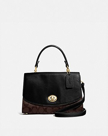 tilly top handle satchel with signature canvas