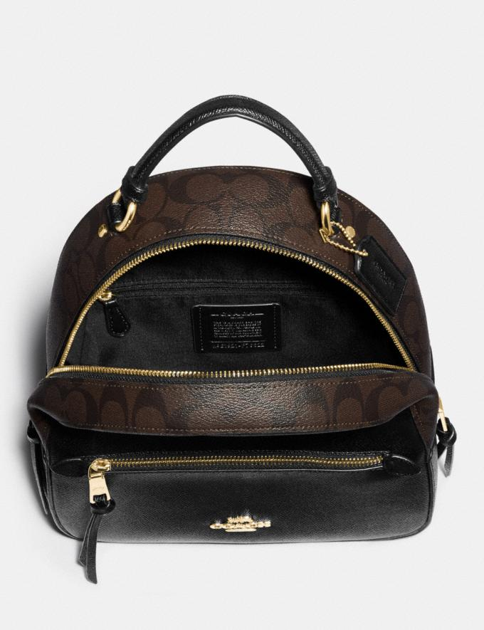Coach Jordyn Backpack With Signature Canvas Brown/Black/Gold  Alternate View 1