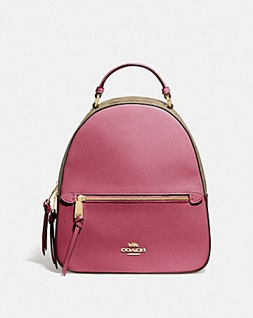 JORDYN BACKPACK WITH SIGNATURE CANVAS