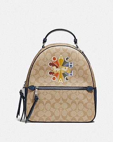 JORDYN BACKPACK IN SIGNATURE CANVAS WITH COACH RADIAL RAINBOW