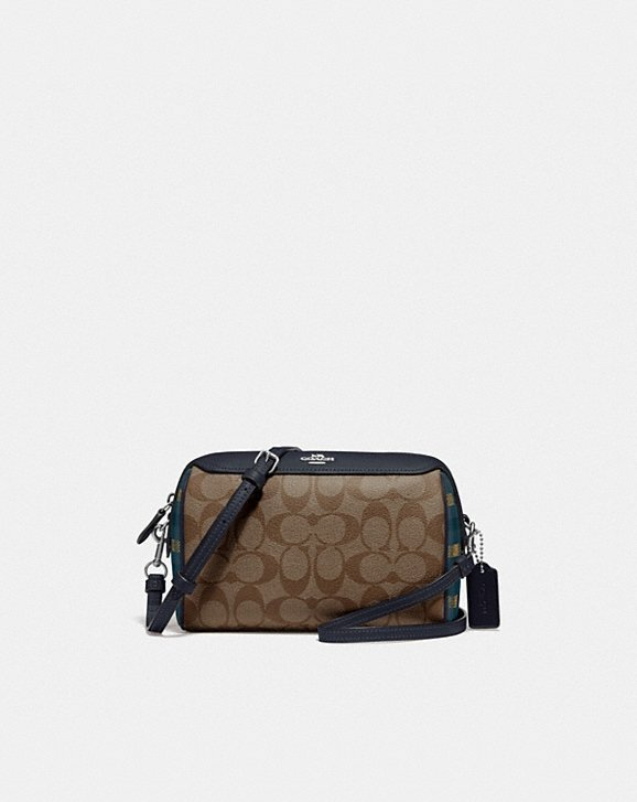 Coach BENNETT CROSSBODY IN SIGNATURE CANVAS WITH GINGHAM PRINT