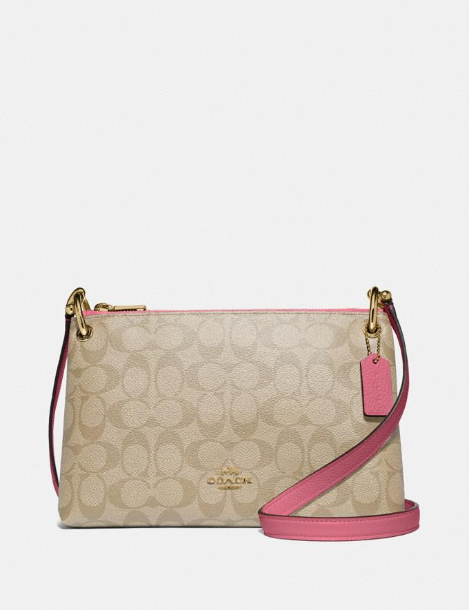 Coach Mia Crossbody in Signature Canvas Light Khaki/Rouge/Gold Explore Bags Bags Crossbody Bags