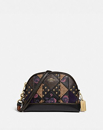 DOME CROSSBODY IN SIGNATURE PATCHWORK