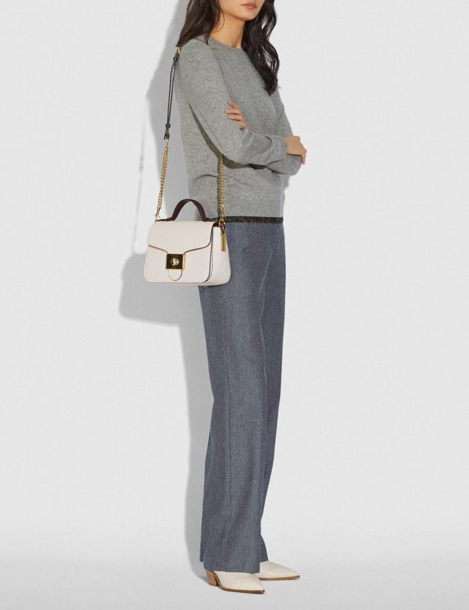 Coach Cassidy Top Handle Crossbody Im/Chalk Oxblood Explore Bags Bags Crossbody Bags Alternate View 3