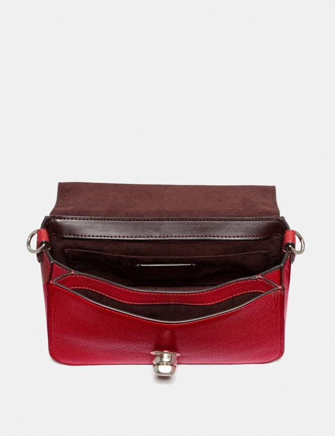 Coach Cassidy Top Handle Crossbody With Rivets Sv/Bright Cardinal Explore Bags Bags Crossbody Bags Alternate View 1