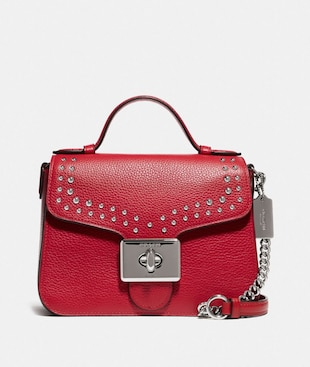 CASSIDY TOP HANDLE CROSSBODY WITH RIVETS