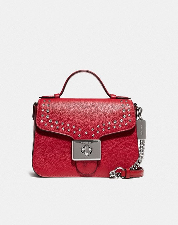 Coach CASSIDY TOP HANDLE CROSSBODY WITH RIVETS