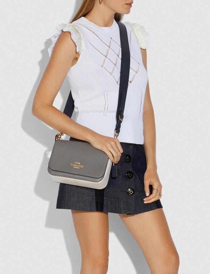 Coach Small Jes Messenger in Colorblock Im/Heather Grey Chalk Multi Explore Bags Bags Crossbody Bags Alternate View 3
