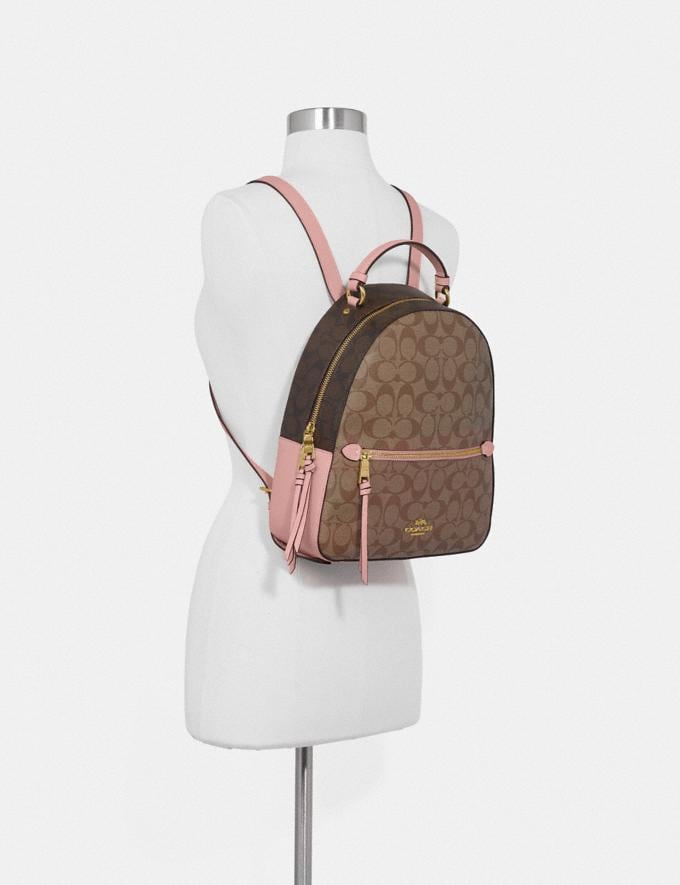 Coach Jordyn Backpack in Blocked Signature Canvas Sv/Brown Midnight  Alternate View 2
