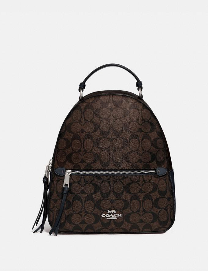 Coach Jordyn Backpack in Blocked Signature Canvas Sv/Brown Midnight