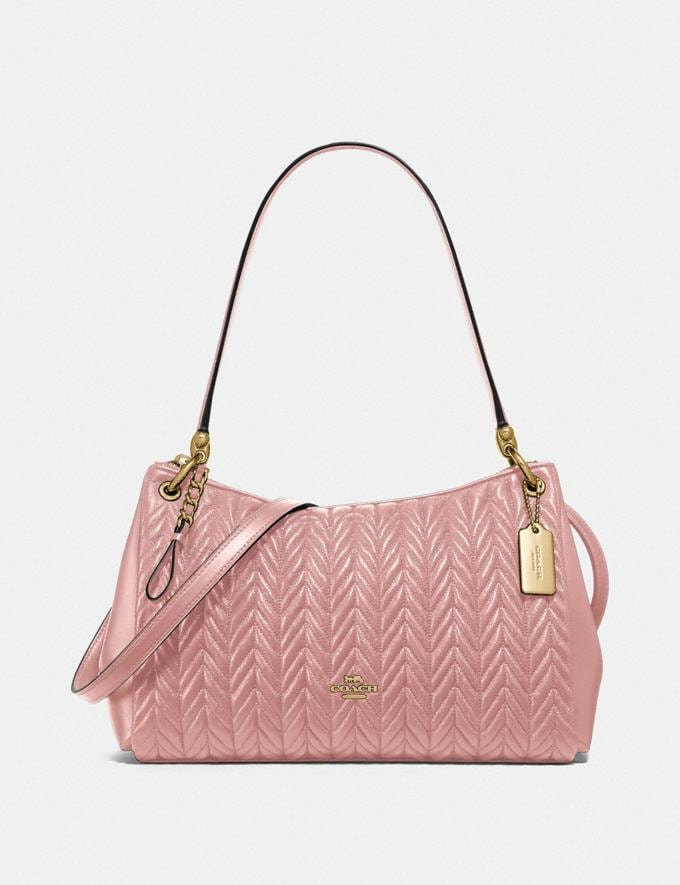 Coach Small Mia Shoulder Bag With Quilting Im/Pink Petal