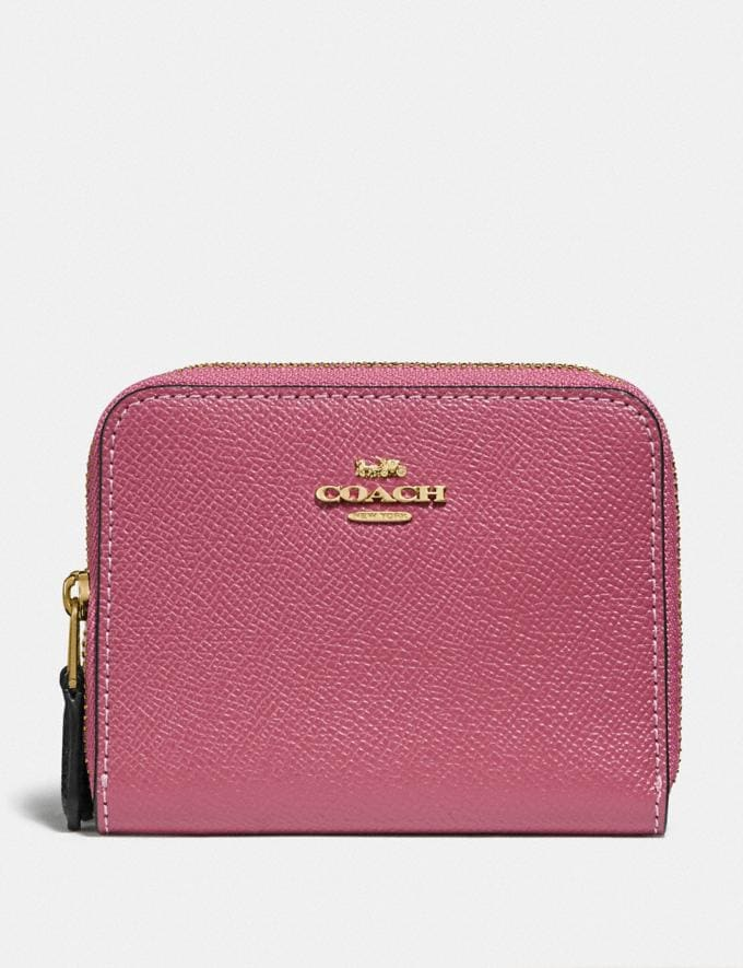 Coach Small Double Zip Around Wallet Rouge Multi/Gold
