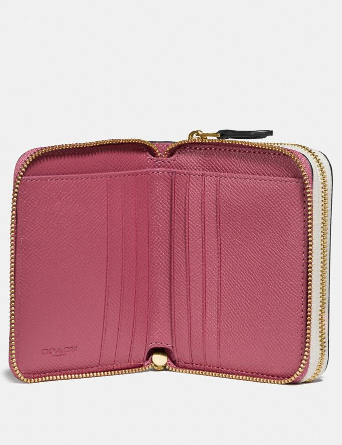 Coach Small Double Zip Around Wallet Rouge Multi/Gold  Alternate View 1