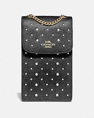 NORTH/SOUTH PHONE CROSSBODY WITH RIVETS