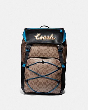 TERRAIN BACKPACK IN SIGNATURE CANVAS WITH COACH SCRIPT