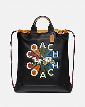 TERRAIN DRAWSTRING BACKPACK WITH COACH RADIAL RAINBOW
