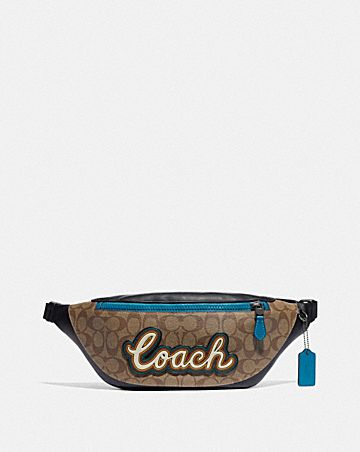 WARREN BELT BAG IN SIGNATURE CANVAS WITH COACH SCRIPT