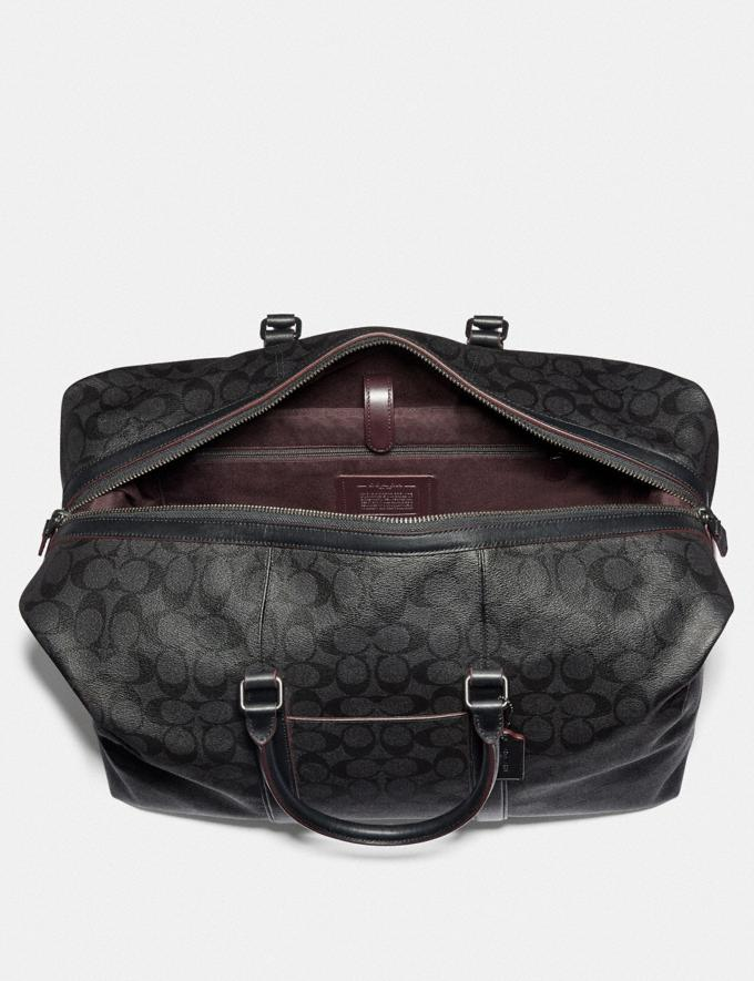 Coach Trekker Bag in Signature Canvas Black/Black/Oxblood/Black Copper Finish DEFAULT_CATEGORY Alternate View 1