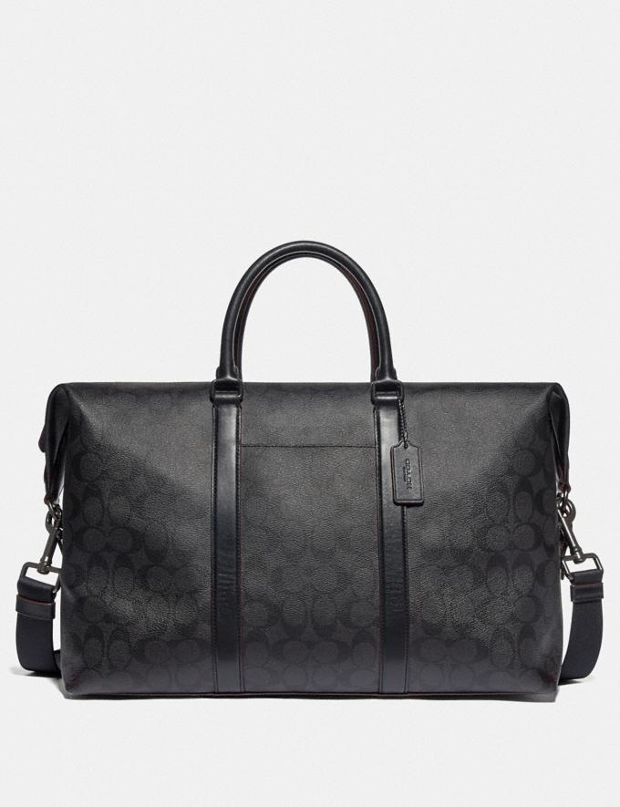 Coach Trekker Bag in Signature Canvas Black/Black/Oxblood/Black Copper Finish DEFAULT_CATEGORY