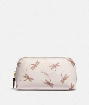 COSMETIC CASE 17 WITH DRAGONFLY PRINT