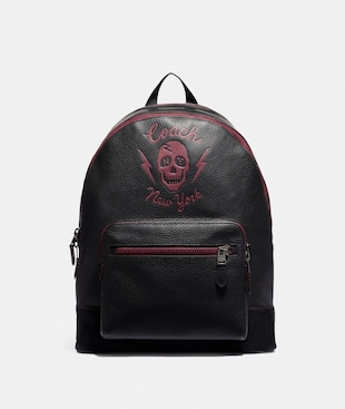 WEST BACKPACK WITH SKULL MOTIF