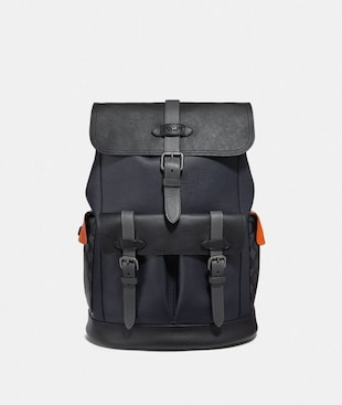 HUDSON BACKPACK WITH COLORBLOCK SIGNATURE CANVAS