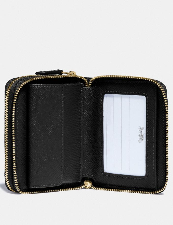 Coach Small Double Zip Around Wallet Black/Gold  Alternate View 1