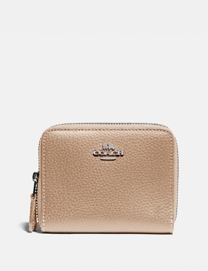 Coach Small Double Zip Around Wallet Sv/Platinum Explore Women Explore Women Wallets