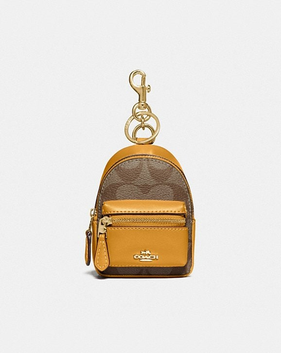 Coach BACKPACK COIN CASE IN SIGNATURE CANVAS