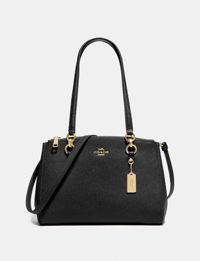 Coach Etta Carryall Black/Gold