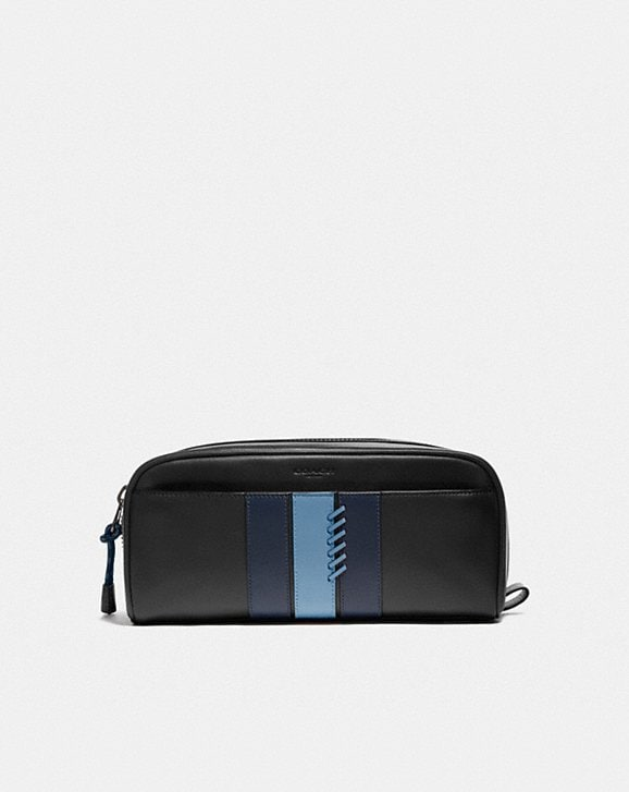 Coach DOPP KIT WITH BASEBALL STITCH