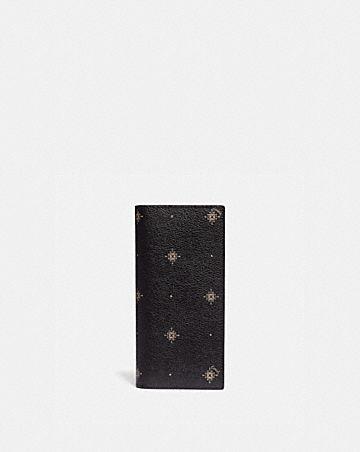 breast pocket wallet with geo foulard print