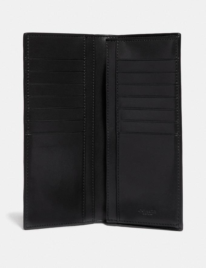 Coach Breast Pocket Wallet With Geo Foulard Print Black Multi/Nickel  Alternate View 1