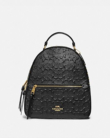 JORDYN BACKPACK IN SIGNATURE LEATHER WITH RIVETS