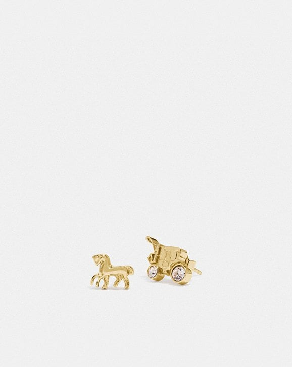 Coach HORSE AND CARRIAGE STUD EARRINGS