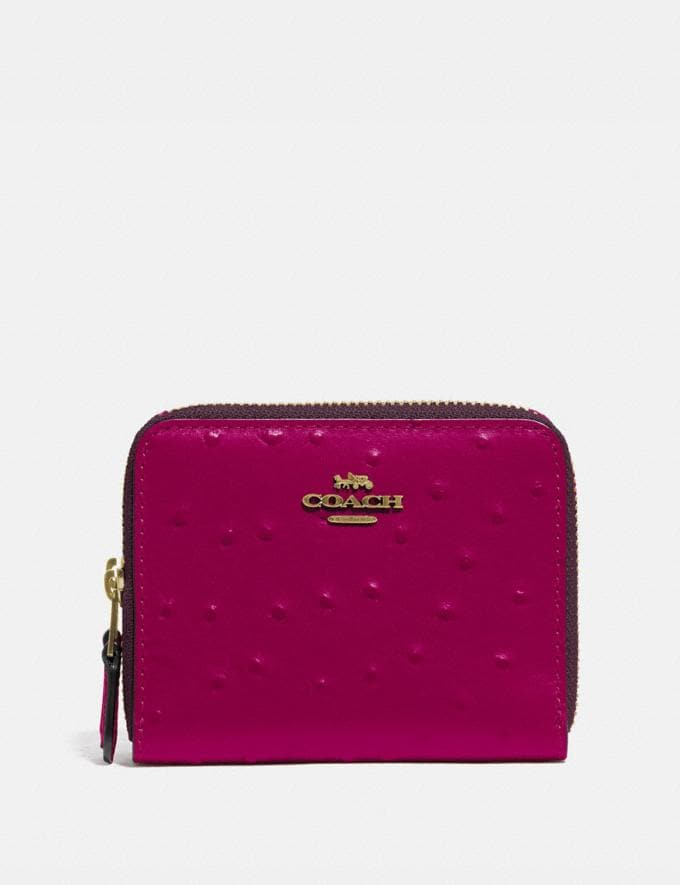 Coach Small Double Zip Around Wallet Im/Dark Fuchsia Explore Women Explore Women Wallets